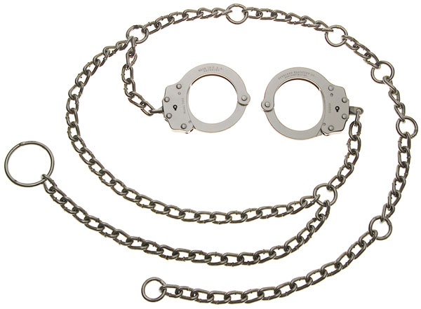 3005 • Nickel Finish Peerless® Waist Chain with Handcuffs Located at Hip Image