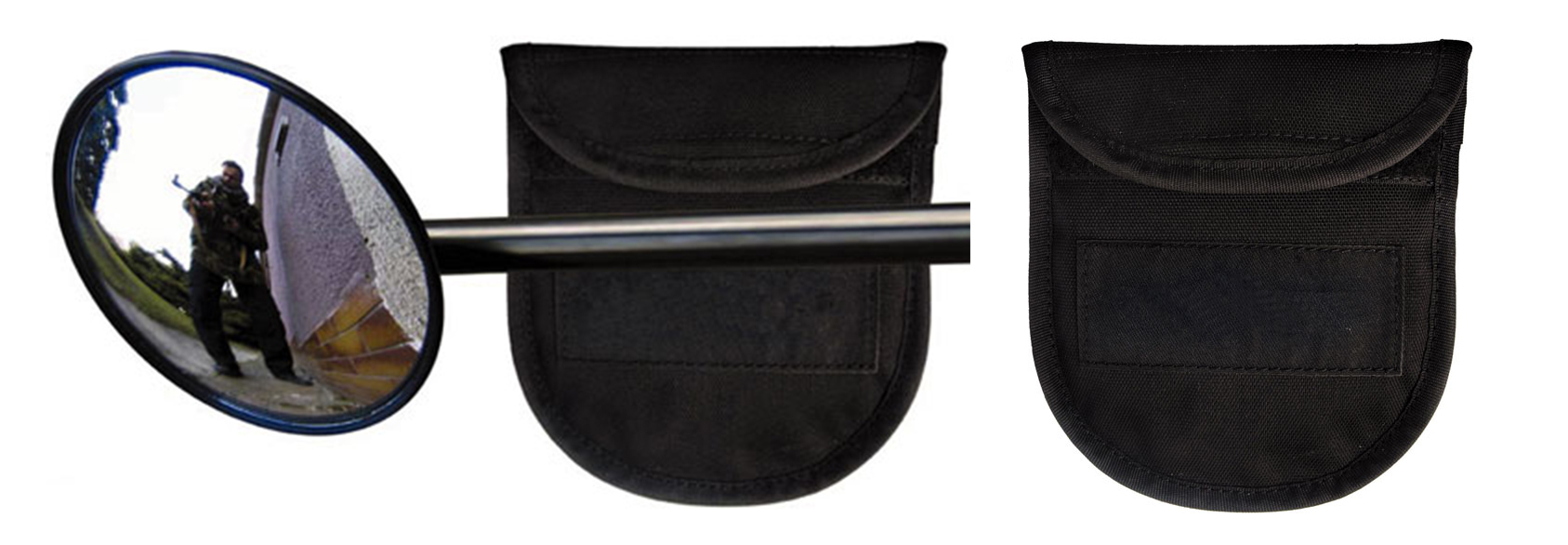 "376 • Mirror – Baton End – Large with Pouch (3.66"") Image"