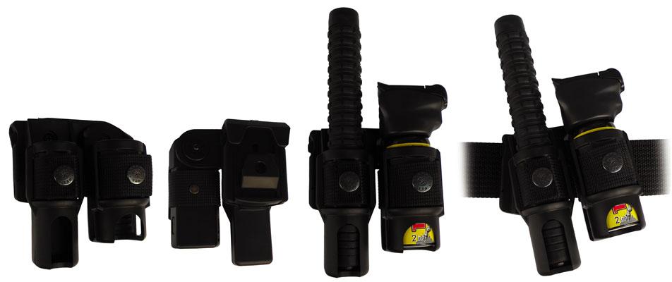 """387 • Combo Swivel Baton / Pepper Spray MKIII Holder for 21"""" Baton Image"""